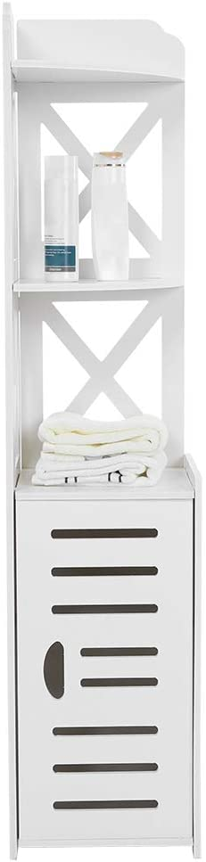 Cash special price Bathroom Cabinet Storage Rack White Wooden Department store Cab