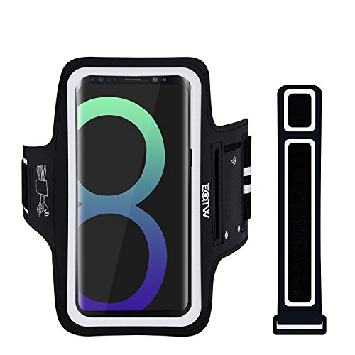 EOTW Brazalete Deportivo para iPhone X/XS,Samsung Galaxy S8/S9, con Extensor Correa Bandas Bolsillo para Llaves Auriculares Tarjetas y móviles para Running Corriendo Gimnasio