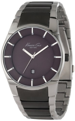 Kenneth Cole KC9036 - Reloj para Hombres, Correa de Acero Inoxidable Color Gris
