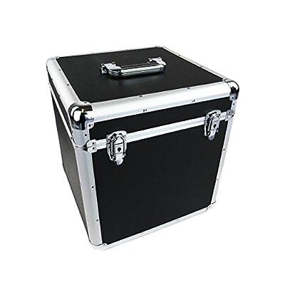 Oypla 100 x 12 LP Vinyl Record Box Hard DJ Flight Case Aluminium