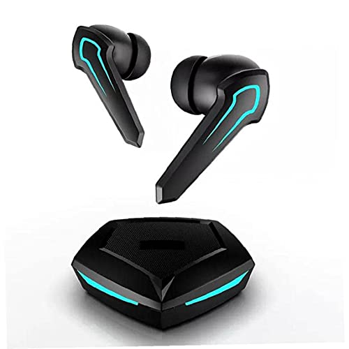 QZH Auriculares inalámbricos para juegos in-ear con cancelación de ruido sin latencia negro