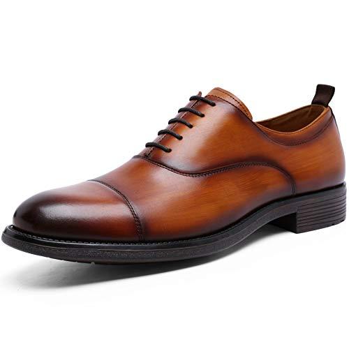 [フォクスセンス] ビジネスシューズ 本革 ストレートチップ 革靴 紳士靴 メンズ ドレスシューズ グッドイヤー製法 ブラウン 27.0CM 892301-02