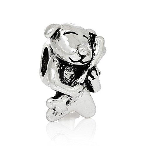 Sexy brilla de la mujer Perro con hueso cuenta para pulsera compatible con para la mayoría de...