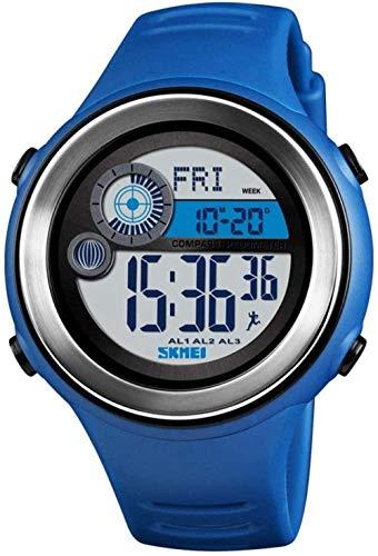 Reloj electrónico multifunción deportivo brújula calle beat reloj inteligente contador de pasos reloj electrónico-azul