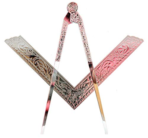 DEURA Masonic Lodge Ceremonial 6' INCH Large Freemason Square and Compass for Bible