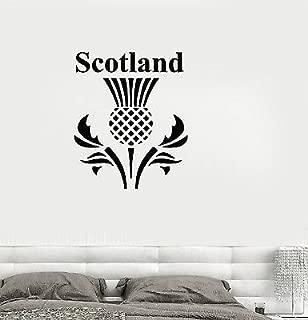 Vinyl Decal Scotland Scottish Thistle Flower Symbol Wall Stickers Mural VS270