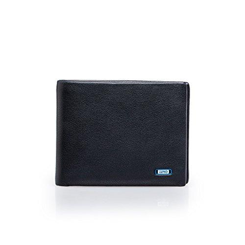 ZRO Men's Simple Bifold Wallet Genuine Leather