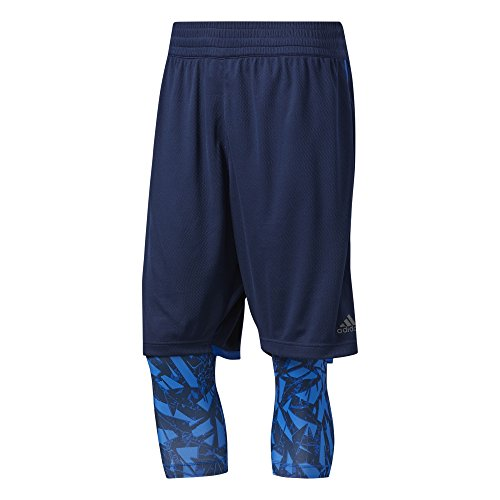 adidas Ess 2In1, Pantaloncino Uomo, Blu (Maruni/Azuene), XL/L