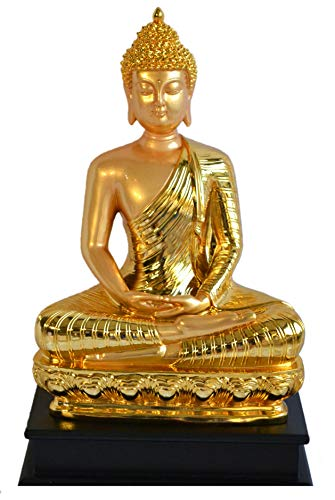 My Aashis Golden 17 Inches Thai Buddha Meditating Peace Harmony Statue