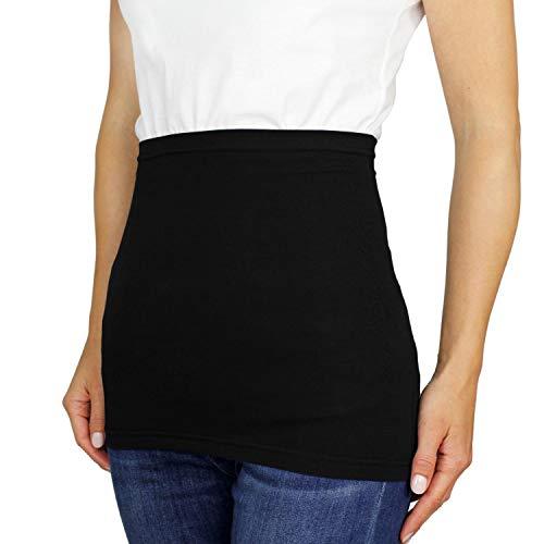 Alkato Damen Nierenwärmer T-Shirtverlängerung Sporttube Uni, Farbe: Schwarz, Größe: 44