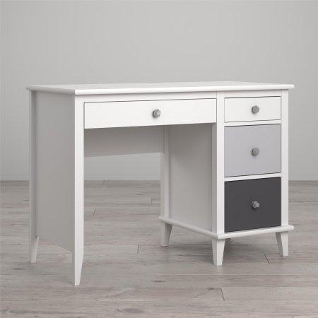 Little Seeds Monarch Hill Poppy Desk, White Gray