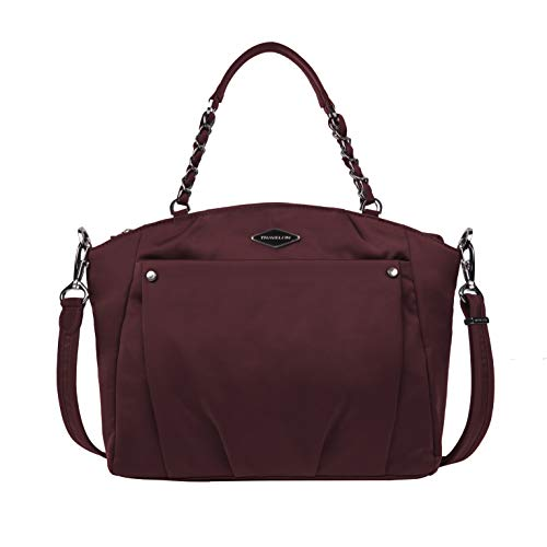 Travelon Satchel Crossbody Bag, Wine, 13.5' x 10' x 4'