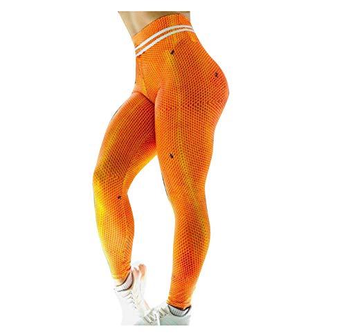 WUXEGHK Las Mujeres De La Colmena Casual De Impresión Digital De Cintura Alta Deportes Pantalones De Yoga Ropa Deportiva Mujer Gymshark Leggings Sin Costuras Capris