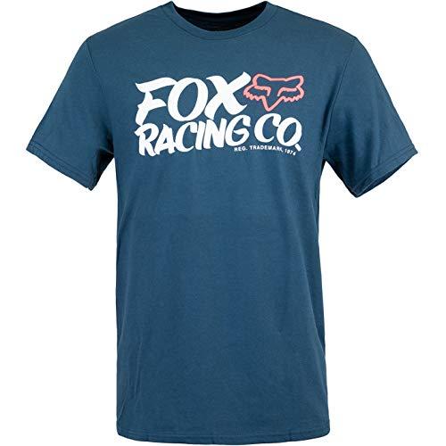 Fox Wayfarer T-Shirt Herren (L, Blue)