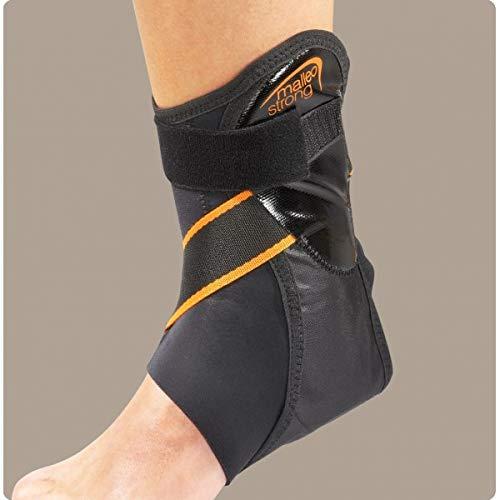 RO+TEN - Malleostrong tutore bivalva per caviglia con imbottitura in schiuma e tirante latero-mediale - L, Destra
