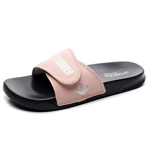 Hausschuhe Hausschuhe Frauen Sommermode Männer Tragen Koreanische Version Der Persönlichkeit Im Freien Trend 2020 Neue Sandalen Paar Sandalen Strand (Color : Pink, Size : 40)