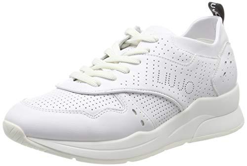Liu Jo Shoes Karlie 14-Sneaker Calf Leather, Scarpe da Ginnastica Basse Donna, Bianco (White 01111), 39 EU