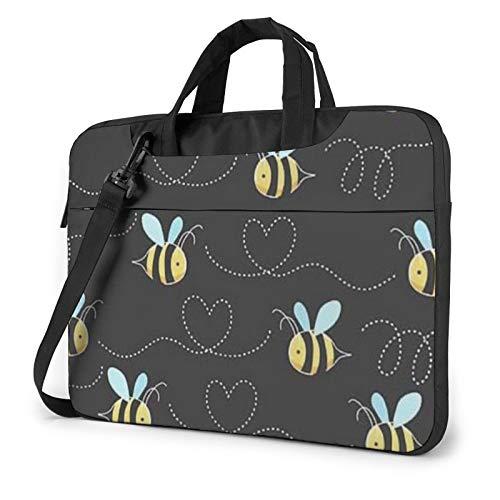 Bumble Bees Laptop Shoulder Bag Waterproof Messenger Bag Carrying Briefcase Sleeve Case 14 Inch