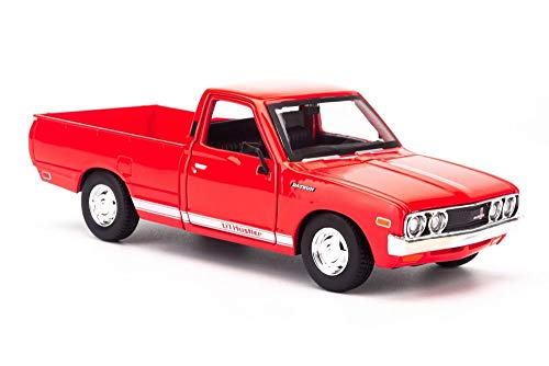 1971 Datsun 620 Pickup Truck, Red - Maisto 31522R - 1/24 Scale Diecast Model Toy Car