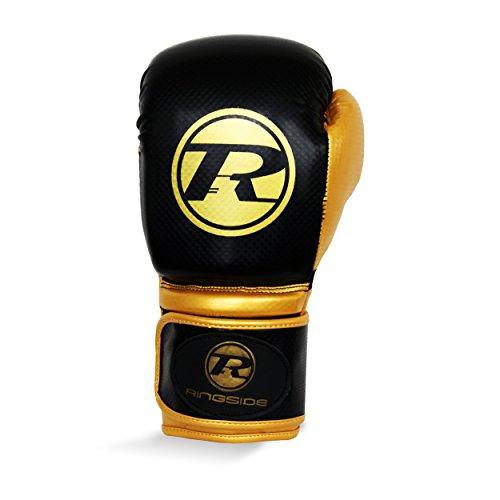 Ringside Boxhandschuh Pro Fitness Handschuh Kunstleder Handschuh Metallic Schwarz/Gold