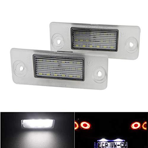 VIGORFLYRUN PARTS LTD 2PCS Auto LED Kennzeichenbeleuchtung Nummernschilder Licht für A4 B5 A3 8L S5 S3 S4,Emittieren 6500K 24 SMD Xenon Weiße Farbe Licht