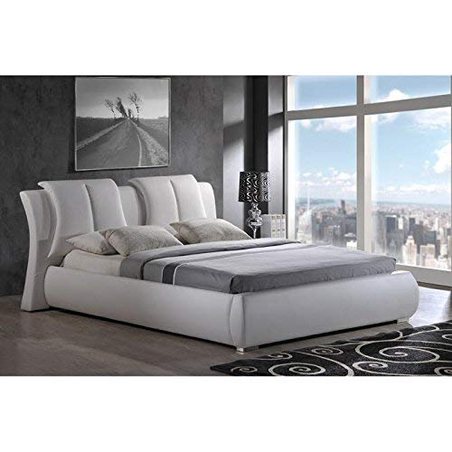 Global Furniture, King, White Upholstered Bed