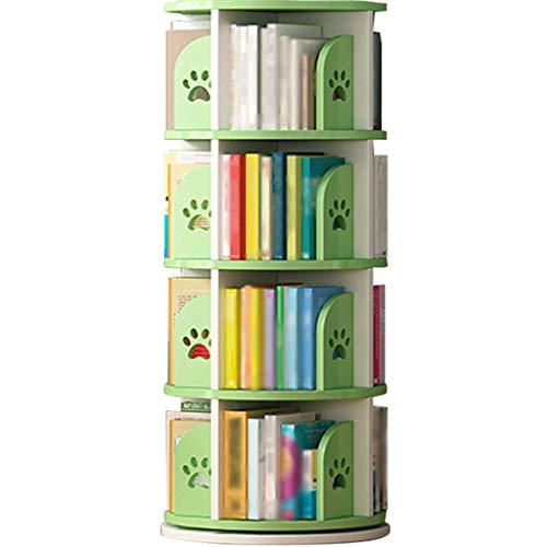 Librerie per bambini songmics Scaffale Per Bambini Girevole Creativo, Divisorio Per Riporre Il Pavimento Della Casa, Pannello Ad Alta Densità Ecologico, Facile Installazione ( Color : Green-128*46cm )