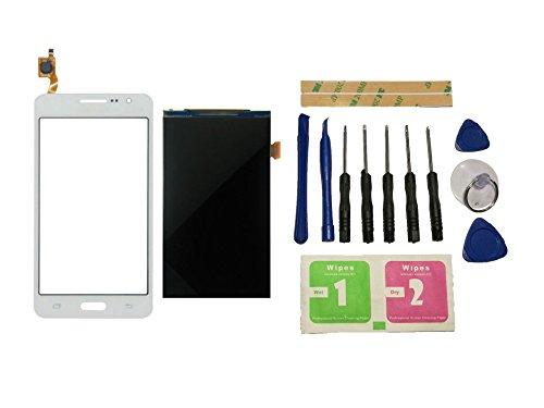 Flügel para Samsung Galaxy Grand Prime G531 SM-G531 SM-G531F pantalla LCD Pantalla Display + Táctil Pantalla digitzer Blanco (sin marco) de Recambio & Herramientas