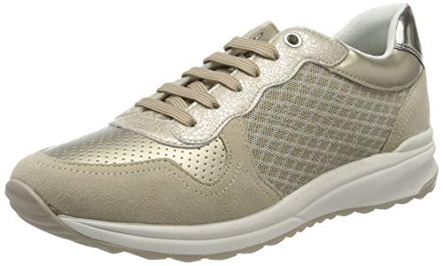 Geox D Airell A, Zapatillas Mujer, Beige Lt Taupe