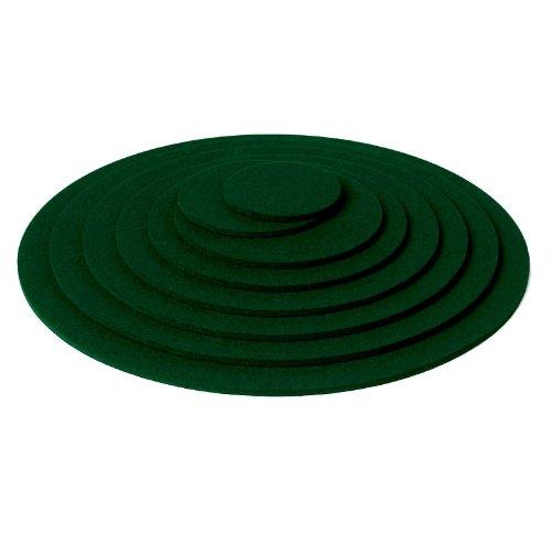 Hey Sign Untersetzer rund, ca 9 cm, Tannengrün, Stärke 5 mm