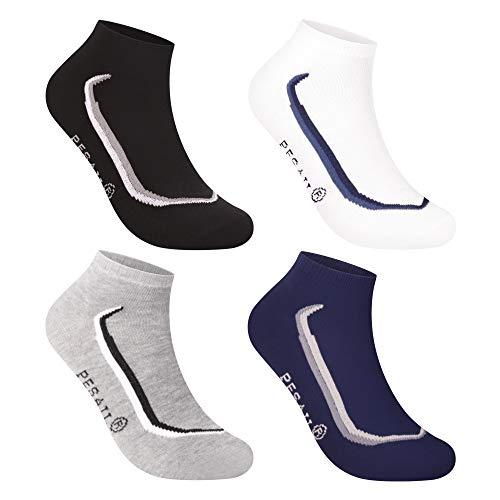 L&K Pack de 12 Calcetines de deporte Sneaker Cortos para hombre multicolor 2323 40-43