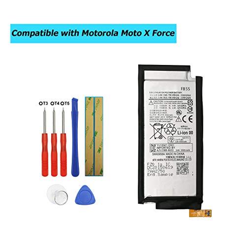 test Ersatzbatterie springt kompatibel mit dem Upplus FB55 Motorola Moto X Force XT1581 XT1585SNN5958A… Deutschland