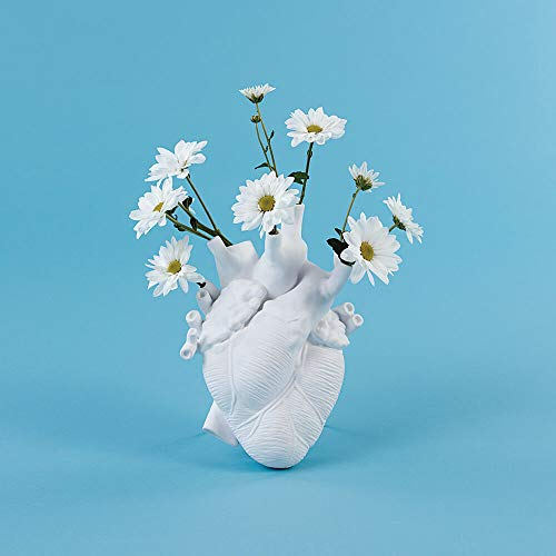 Seletti Love In Bloom Vase Herz weiß