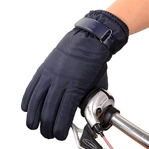 AiKoch Guantes de la Pantalla táctil de Invierno Guantes Calientes Hombres de Lana de algodón Manoplas de esquí al Aire Libre Brown Motocicleta a Prueba de Agua Cold Protection