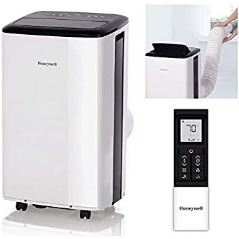 Honeywell Compact Portable Air Conditioner with Dehumidifier & Fan Cools Rooms Up To 450 Sq Ft Includes Drain Pan & Insulation Tape  White  HF0CESWK6