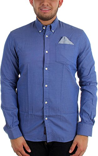 Scotch & Soda - - Woven homme avec Hankercheif, Large, Blue