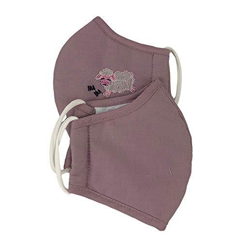 JaTop Maske Mund- Nasenschutz für Kinder waschbar Nano Technologie Doppelpack (lila Doppelpack Kinder)