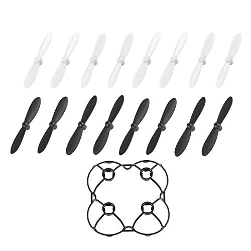 uxcell Propellers Props Rotor CW CCW White Black 4 Set + 1 Black Guard Covers for Cheerson Only CX-10 Quadcopter