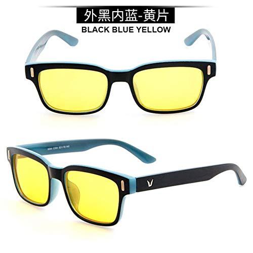 RQMQRL Blue Ray Computer Glasses Men Radiazione Occhiali Eyewear Design del Marchio Office Gaming Blue Light Goggle UV Blocking Eye Glasses
