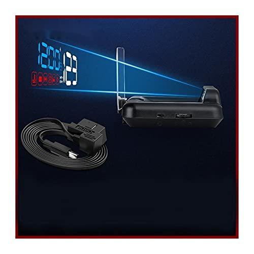XWJSKJ Pantalla de visualización Frontal para Coches C500 OBD2 Pantalla de Cabeza de HUD con proyección de Espejo Proyector de Velocidad de automóvil Digital a Bordo de Combustible de Combustible hud