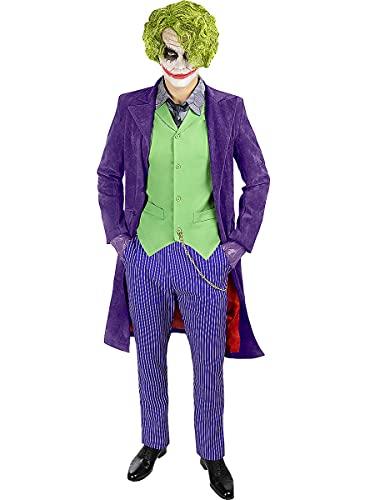 Funidelia | Disfraz de Joker El Caballero Oscuro - Diamond Edition Oficial para Hombre Talla L Superhroes, DC Comics, Villanos - Color: Morado - Licencia: 100% Oficial