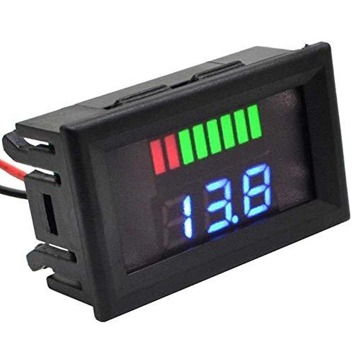 ARCELI Auto Marine Motorrad LED Digital Voltmeter Spannungsmesser Batterieanzeige 72V (rot)