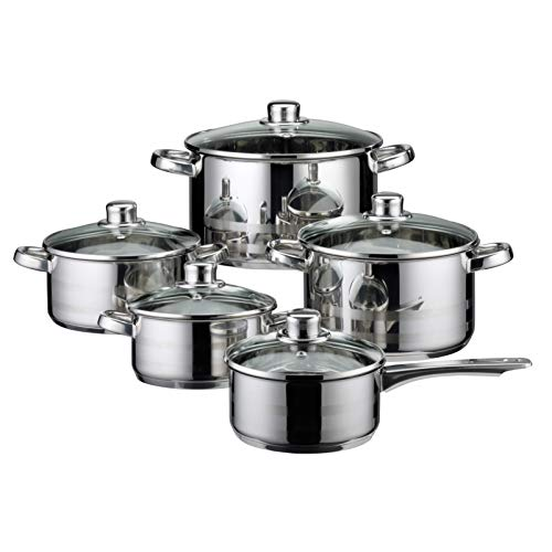 MISC Germany Skyline Stainless Steel Induction Cookware Set 10 Piece