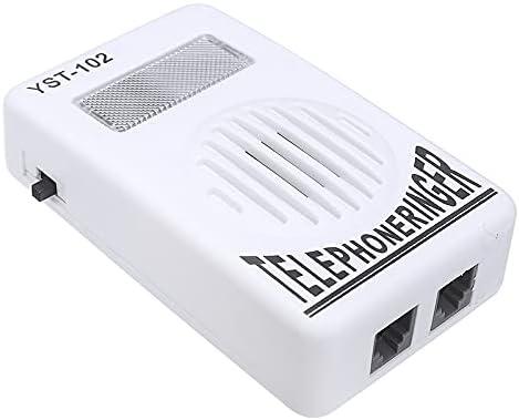Jabtraxx Sound Amplifier Telephone Ring Speaker and 95db Volume Enhancer for Landline Telephone with Flashing Light