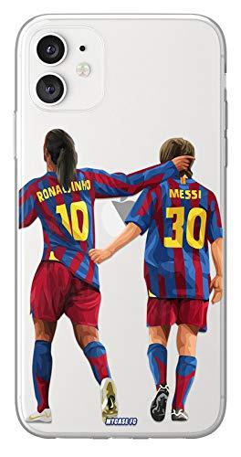 MYCASEFC - Cover Calcio Personalizzabile Ronnie e Messi Huawei P9 in Silicone, Custodia di Calcio per Smartphone Personalizzata e Realizzata in Francia in TPU