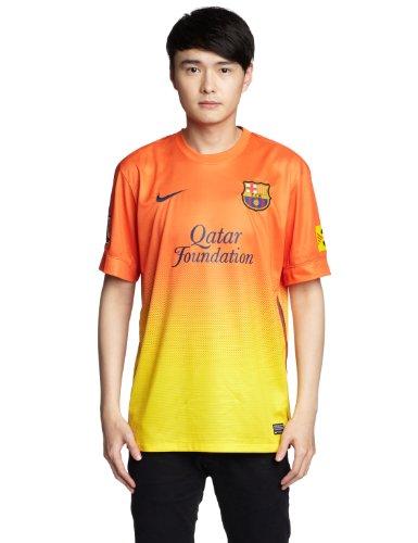 NIKE Herren Trikot FC Barcelona Away Replica Jersey, Safety orange/tour yellow, S, 478326