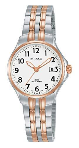 Pulsar Quarz Damen-Uhr Edelstahl mit Metallband PH7490X1