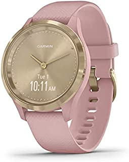 Garmin vivomove 3s, Smaller-sized Hybrid Smartwatch with Real Watch Hands and Hidden Touchscreen Display, Light Gold with ...