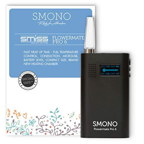 Smono Vaporizer Flowermate Pro 6.0 | Verdampfer für Kräuter, Öle, Wachs und Harz l ohne Nikotin | Version 2021 Smiss