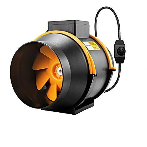 FanGoFast Ventilador extractor de refuerzo de conducto en línea de escape de 6inch 150mm 530m³/h con controlador de atenuación para...